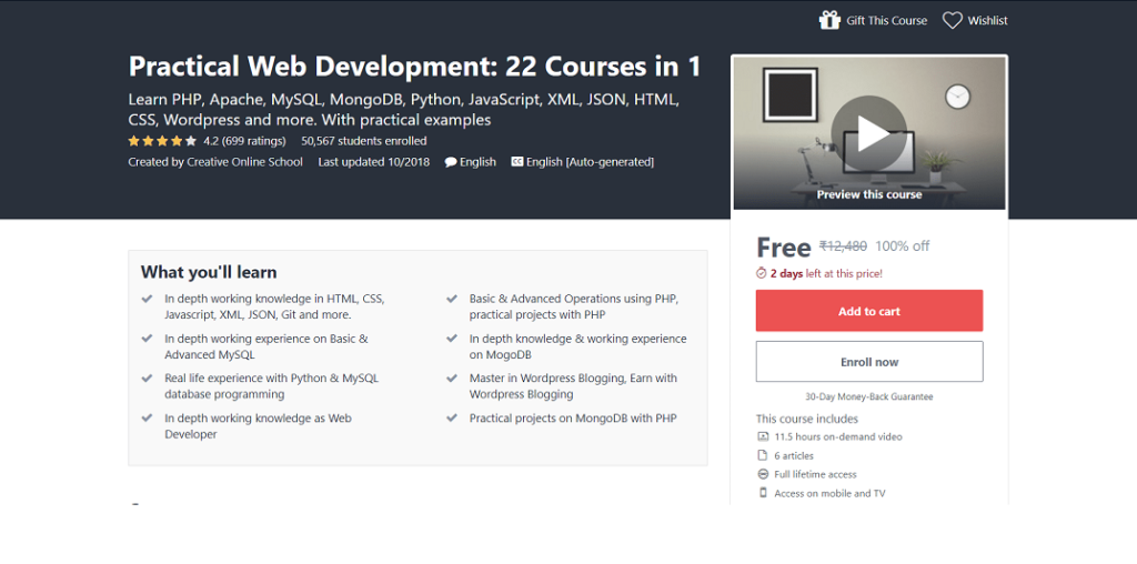 Free-Practical-Web-Development-Certification-Courses