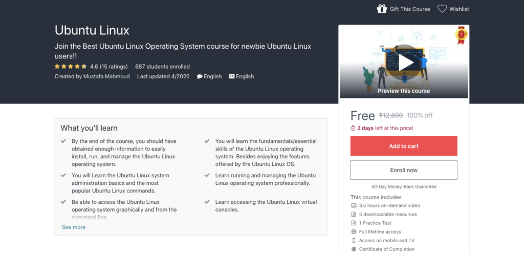 Free-Ubuntu-Linux-Certification-Course