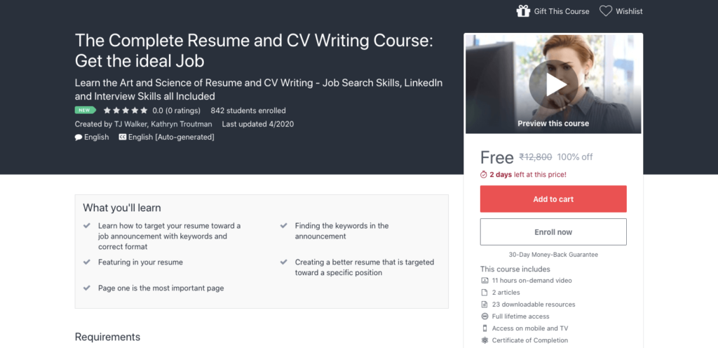 Get-Complete-Resume-and-CV-Writing-Course-for-Free