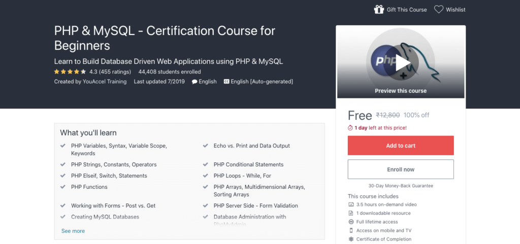 Get-PHP-MySQL-Free-Certification-Course