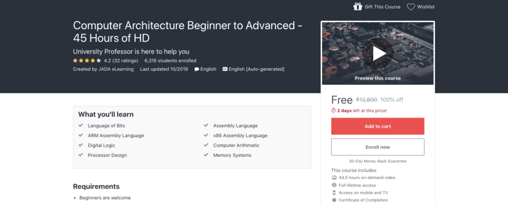 Computer-Architecture-Beginner-to-Advanced-Certification-Course