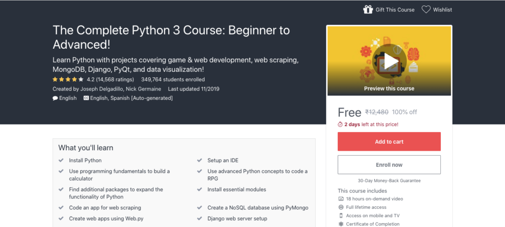 Free-Complete-Python-3-Course