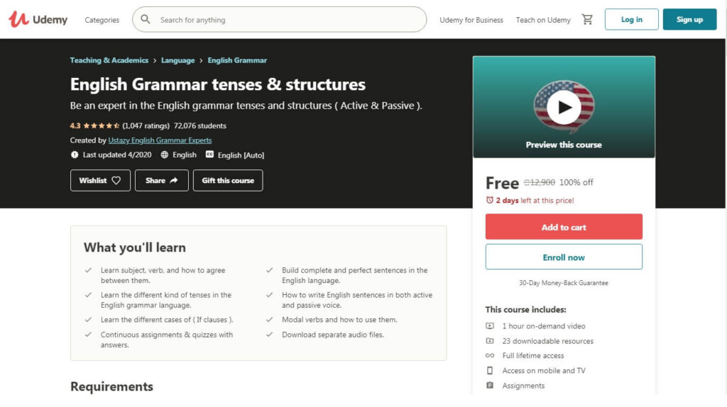 English-Grammar-tenses-structures-Udemy-Free_course