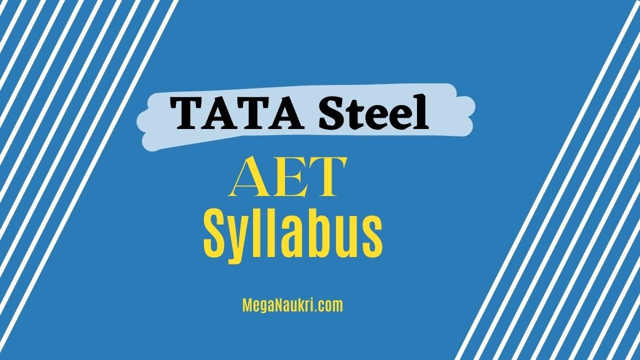 TATA-Steel-AET-Syllabus-2021