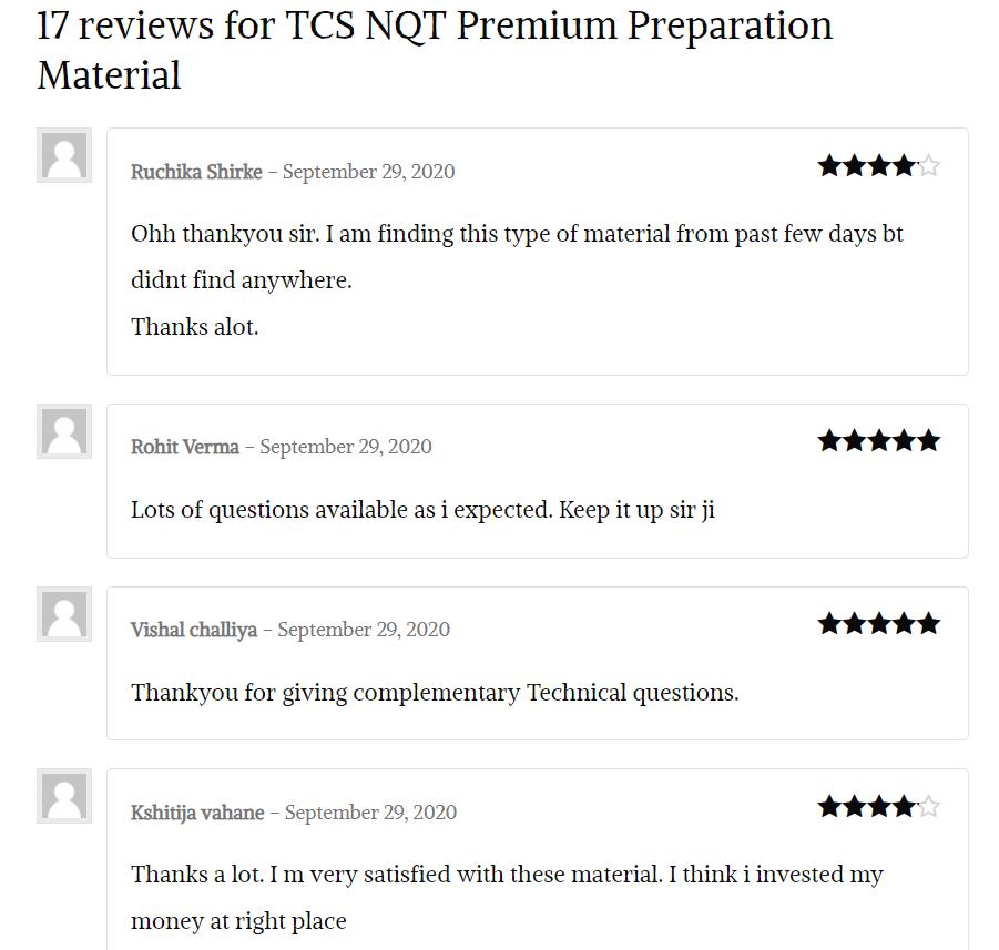 tcs-nqt-material-reviews